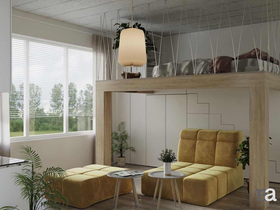 funkcjonalne małe mieszkanie