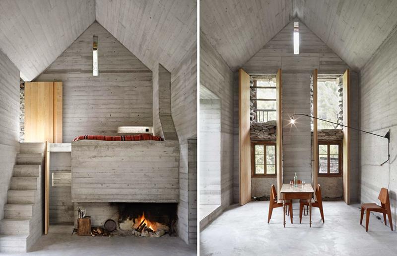 Wnętrze 200-letniej chaty w Szwajcarii
