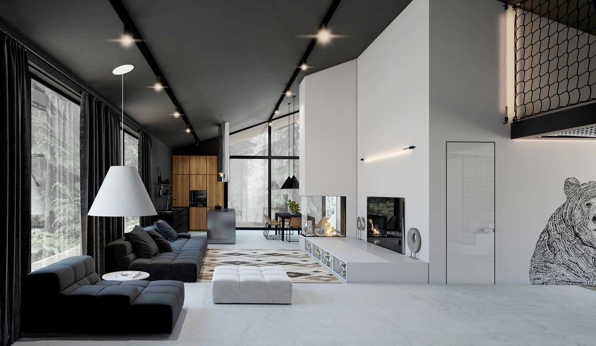 Czarno-biały dom | Proj: Studio Home Design
