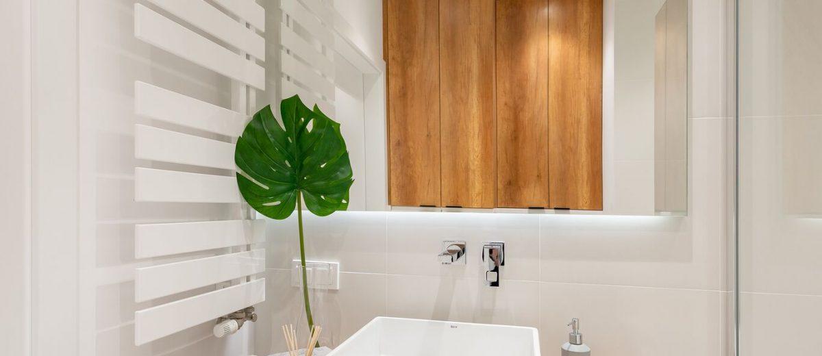 Mała łazienka | proj. WZ Studio (fot. Artur Jarosz/Trzykropy)