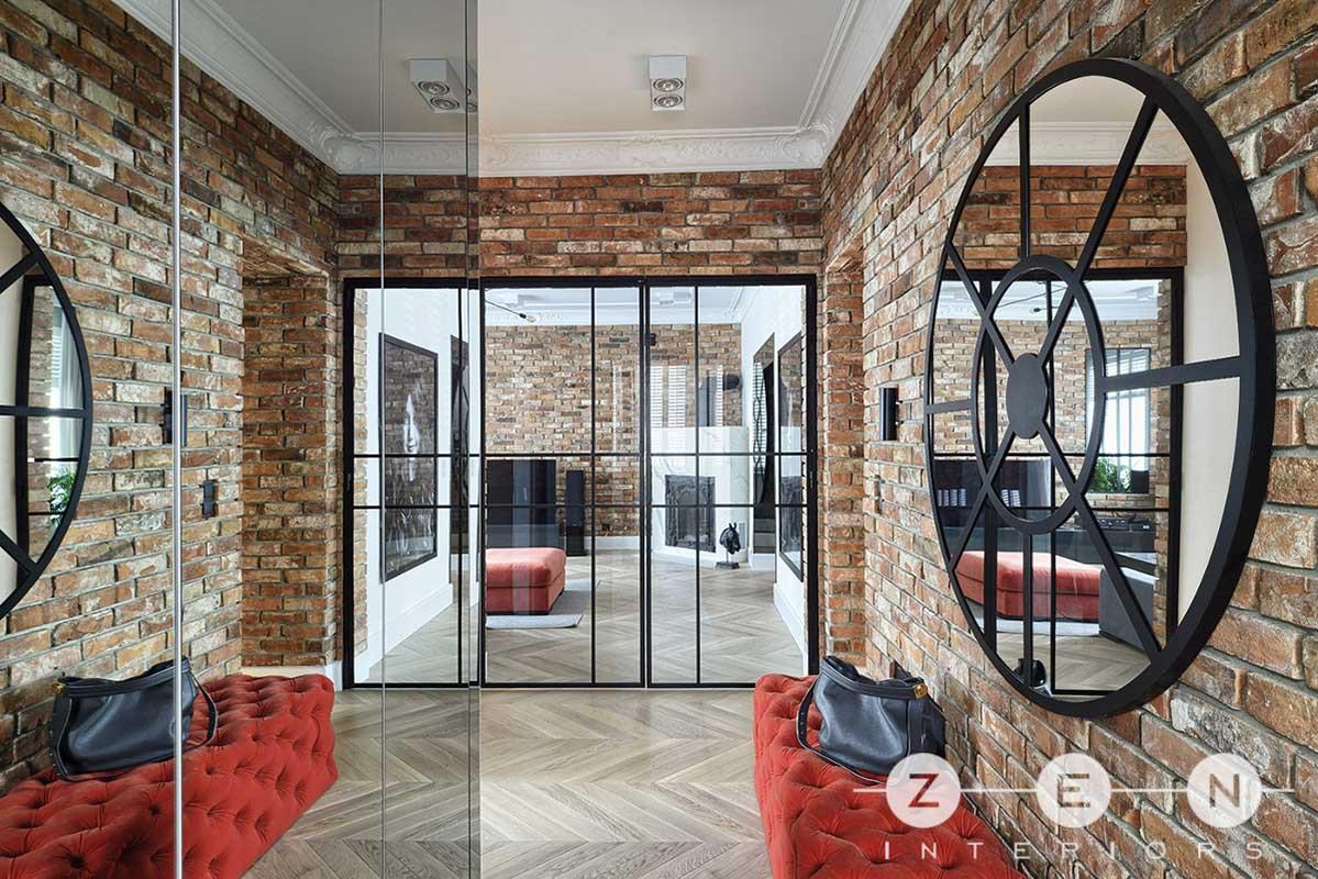 Zen Interior | Lustra i przeszklenia optycznie powiększają przestrzeń