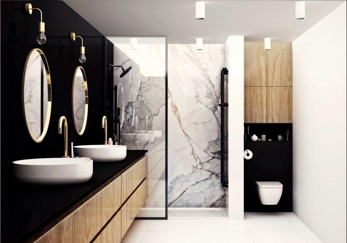 Marmur w łazience | proj. BOLD Design