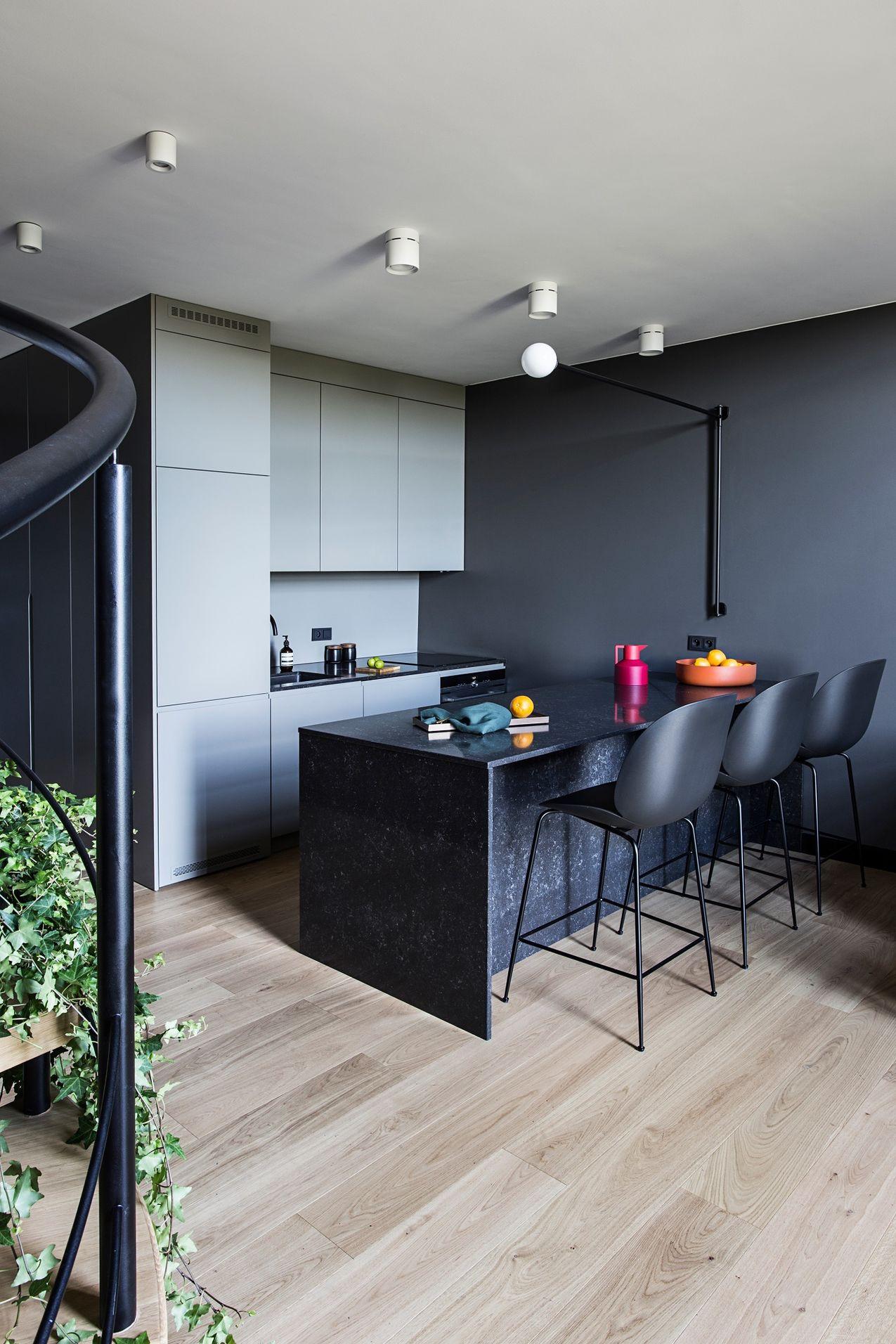 Projekt dwupoziomowego mieszkania Lulkowska Studio
