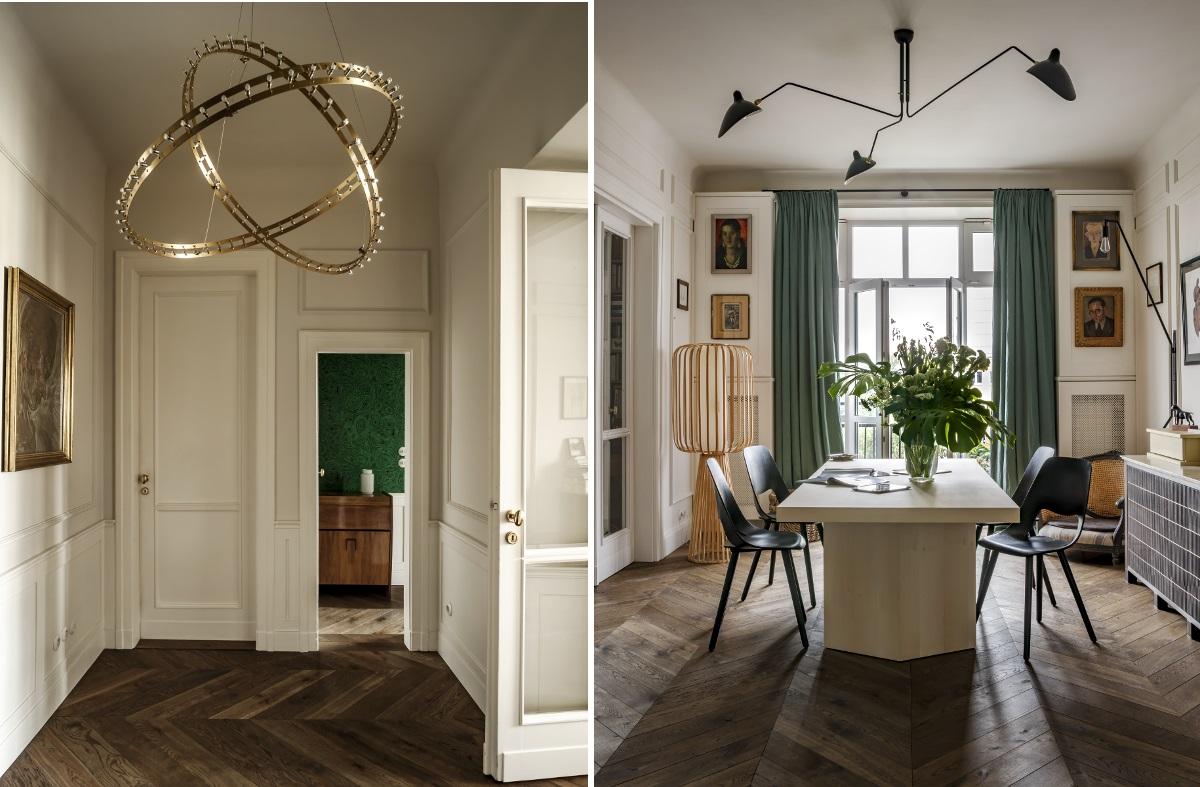 Designerskie lampy w projekcie Colombe Design