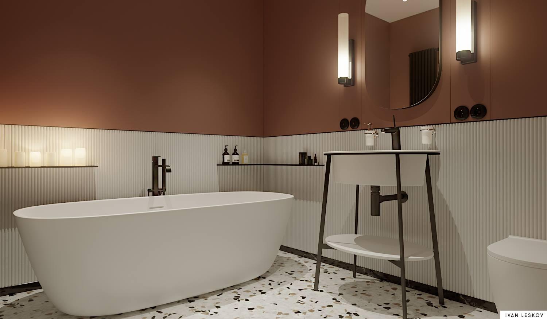 Przepiękna łazienka zaprojektowana przez architekta Ivan Leskov