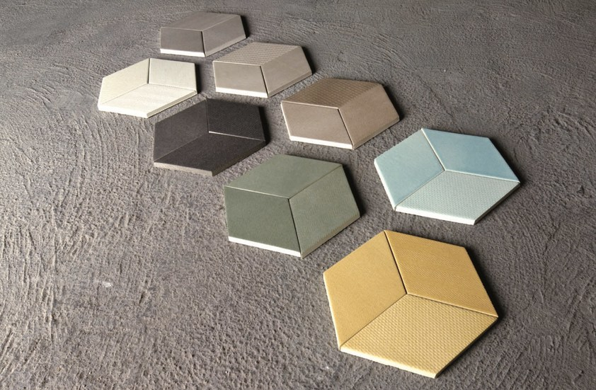 Postaw na płytki w kolorze - na zdjęciu ceramika z linii TEX włoskiego brandu Mutina - w naszych showroomach są dostępne wszystkie kolekcje tej marki