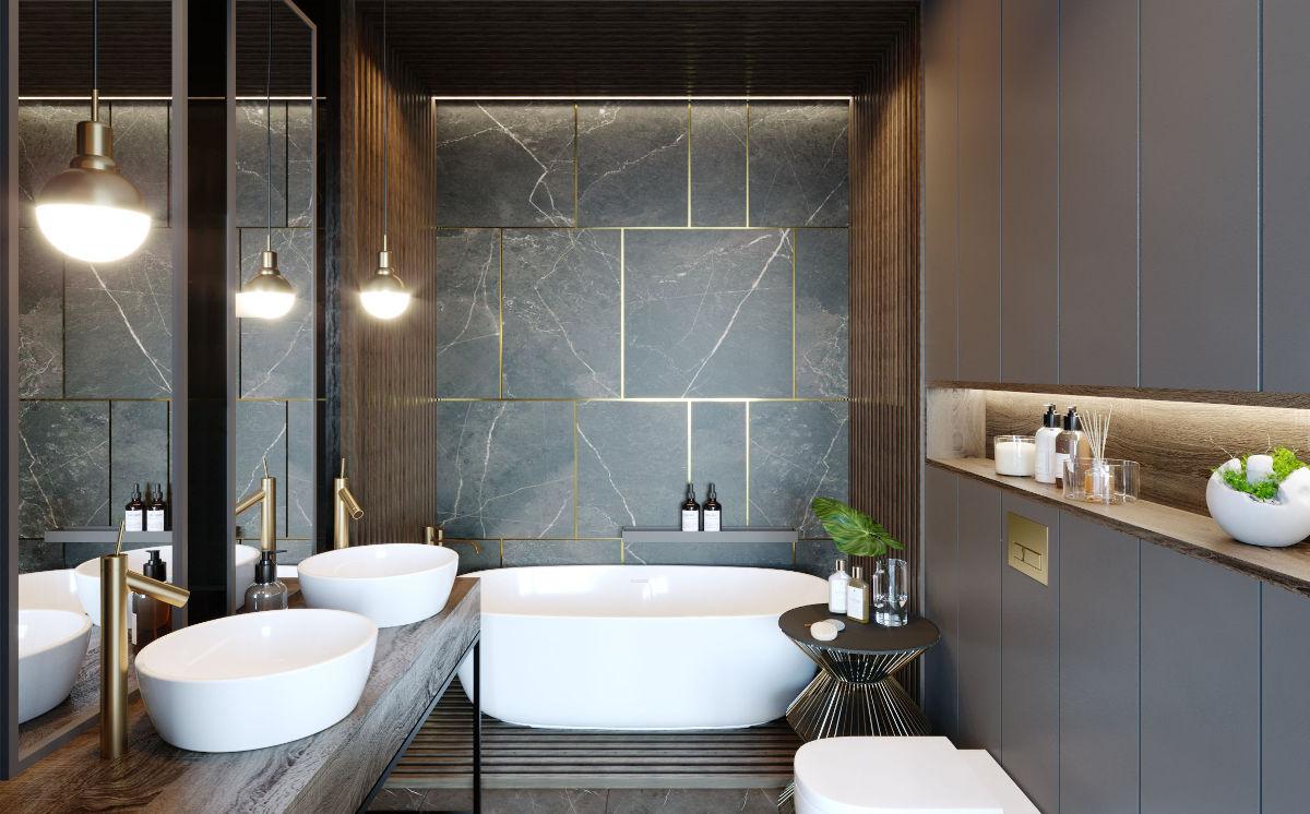 Piękny projekt łazienki autorstwa JMW Architekci