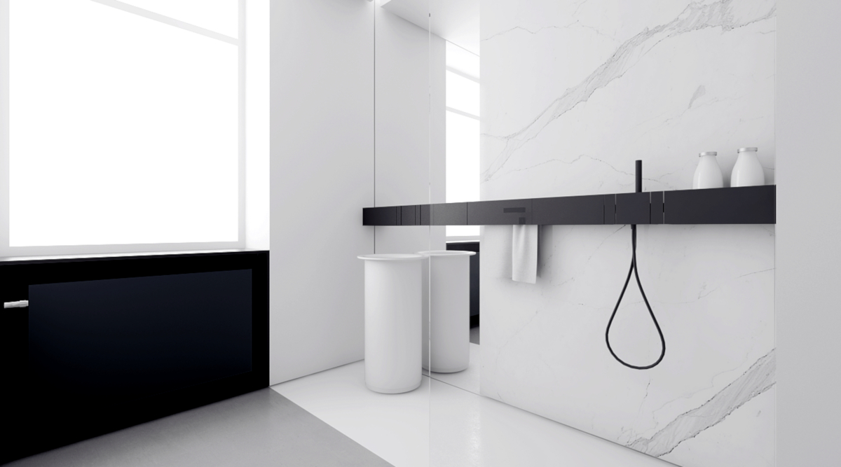 Łazienka w stylu minimalistycznym | proj. Inuti
