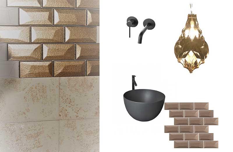 Połączenie stylu vintage z nowoczesną ceramiką Hushlab i baterią podtynkową  Hushlab
