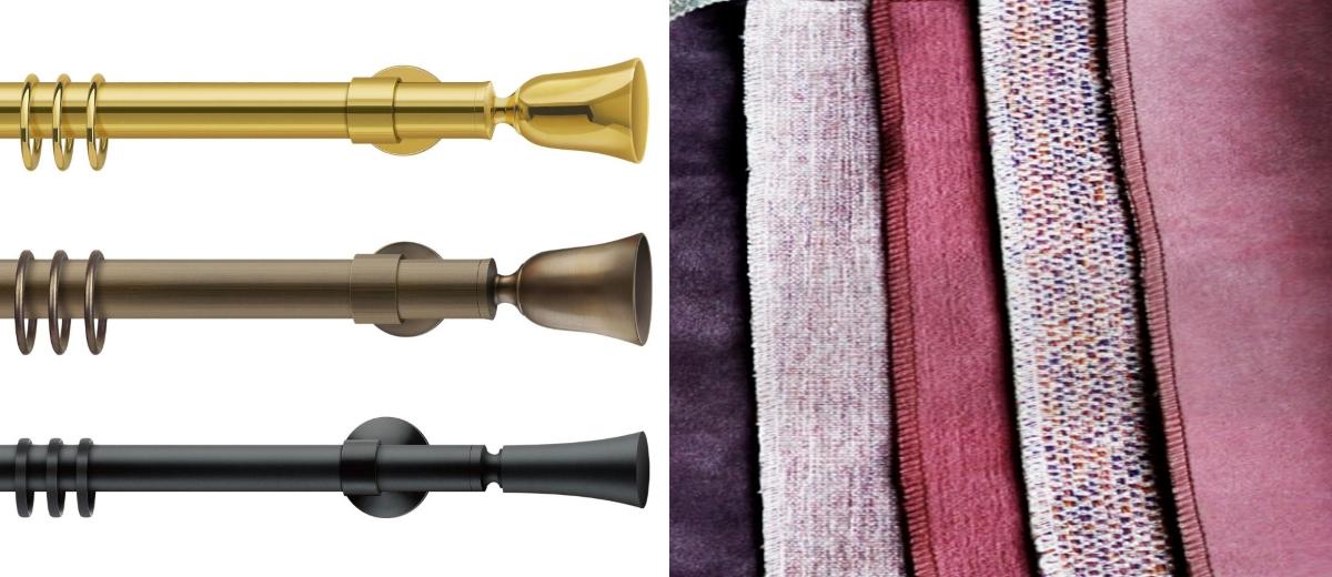 Tradycyjne karnisze niemieckiej marki Interstil dostępne w showroomach Internity Home oraz Prodesigne