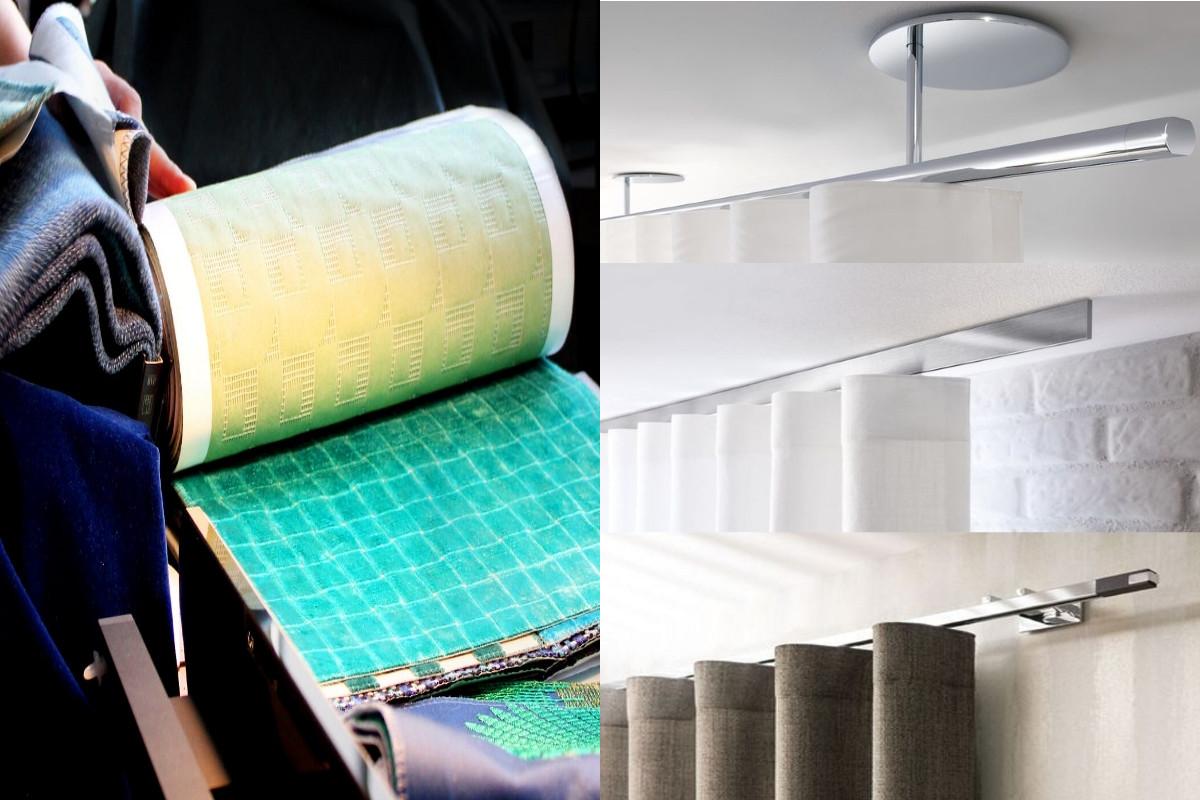 Różne systemy mocowania zasłon marki Interstill | Produkty dostępne w showroomach Internity Home i Prodesigne