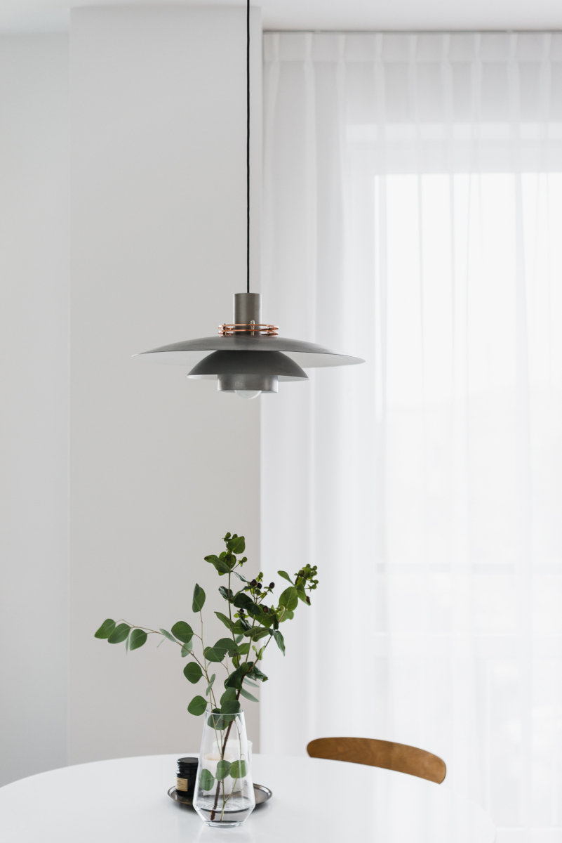 Lampa w stylu vintage nad stołem | proj. MAP, zdj. PION