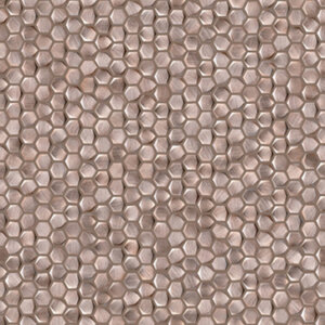 Płytki Porcelanosa GRAVITY ALUMINIUM HEXAGON ROSE GOLD 30,7X30,7