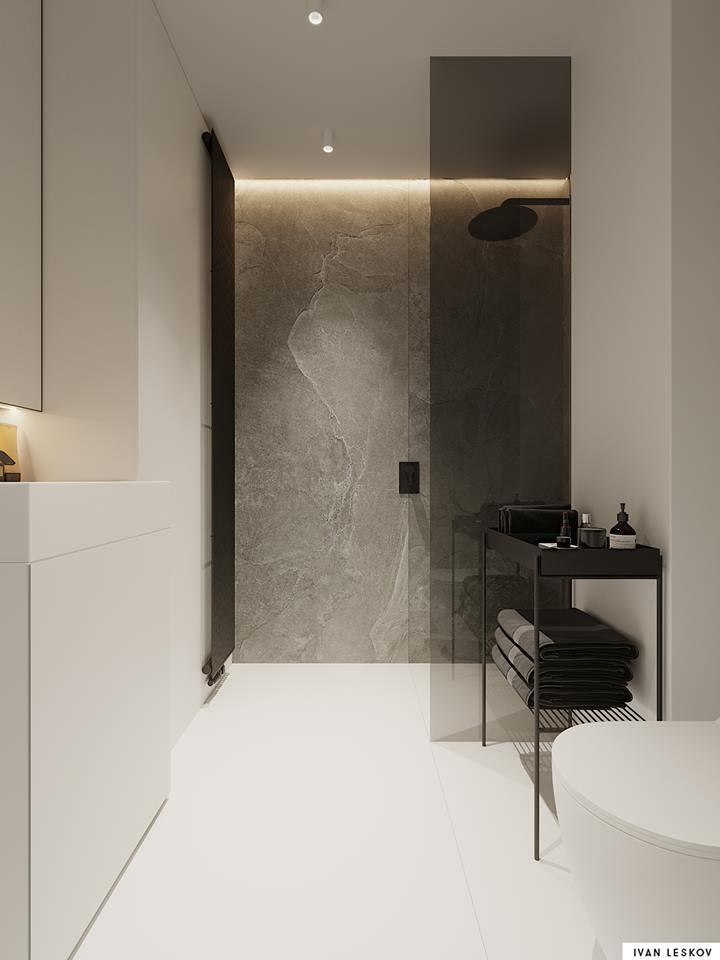 Projekt minimalistycznego apartamentu | Projekt Ivan Leskov