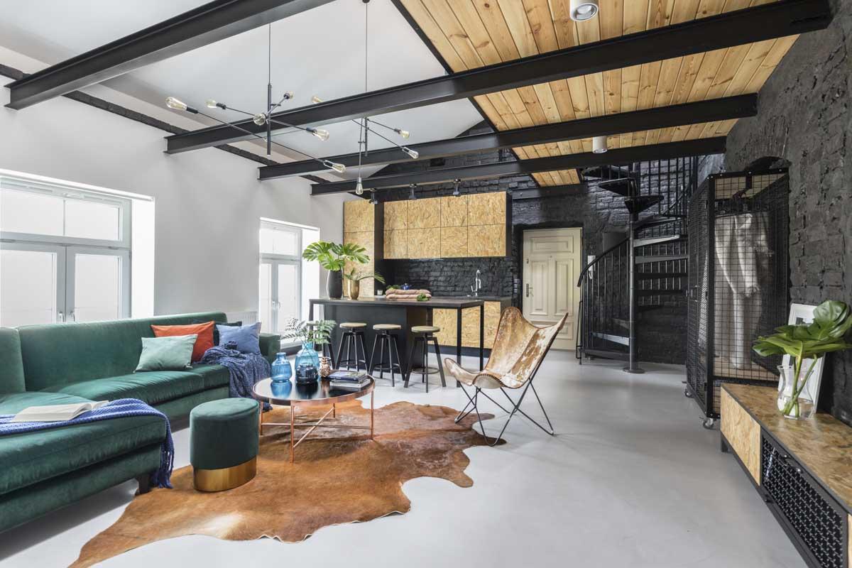 Niesamowity loft z antresolą | proj. One Design, architekt Monika Pniewska