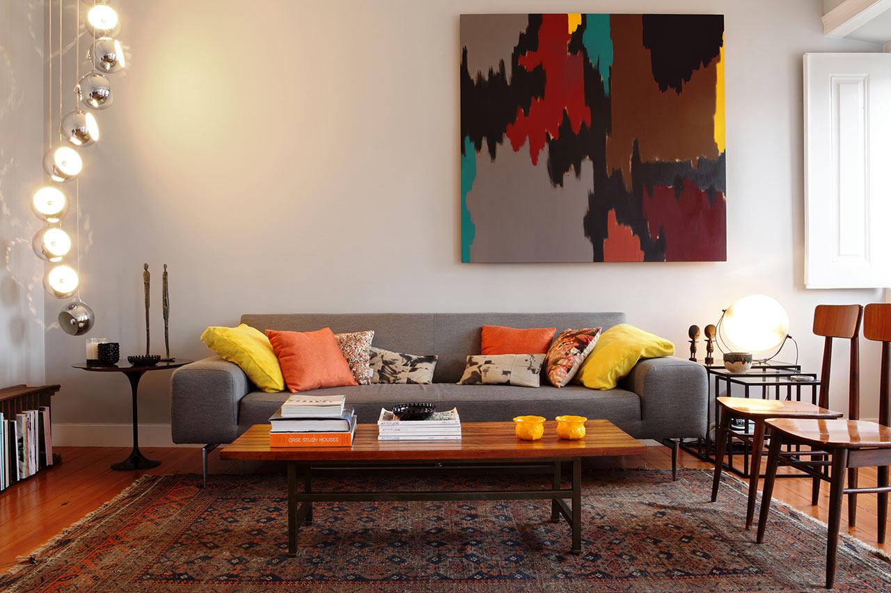Apartament w stylu mid century