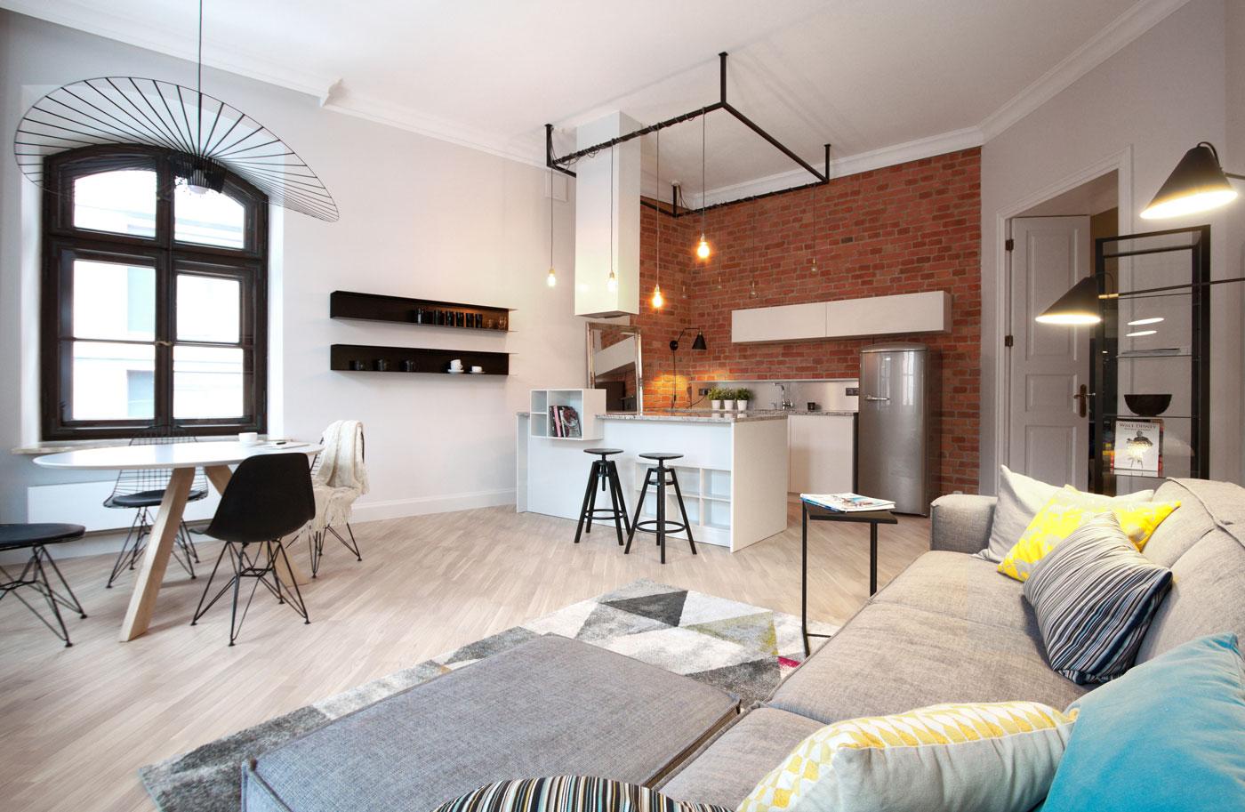KONESER – Projekt apartamentu Centrum Praskie   Soma Architekci: Joanna Rochowska-Mazur, Wojciech Mazur