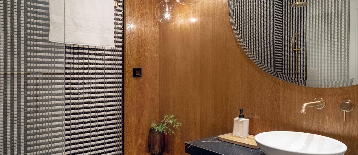 Pomysł na łazienkę | proj. Hamak, zdj. Tom Kurek