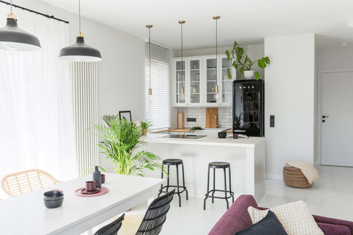 Kuchnia otwarta na salon | proj. Dash Interiors