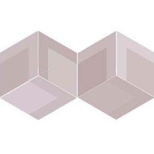 Płytki Wow Design kolekcja Flow DIAMOND DECOR OLD ROSE