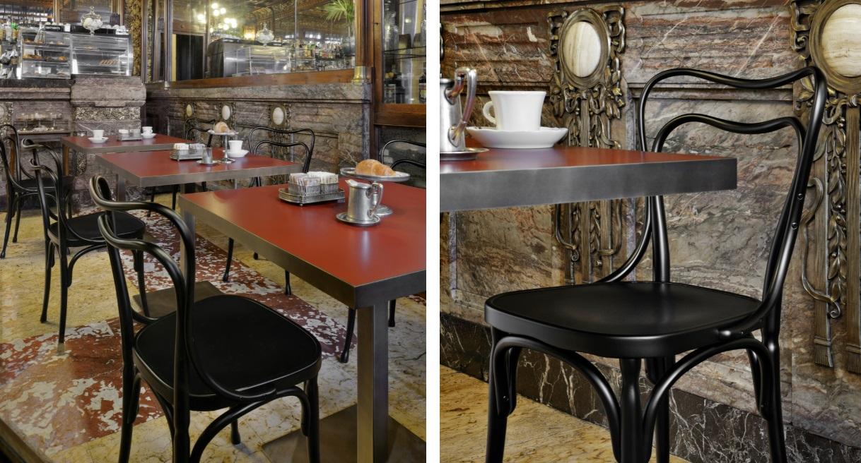 Krzesła Thone zaprojektowane przez Adolf Loos
