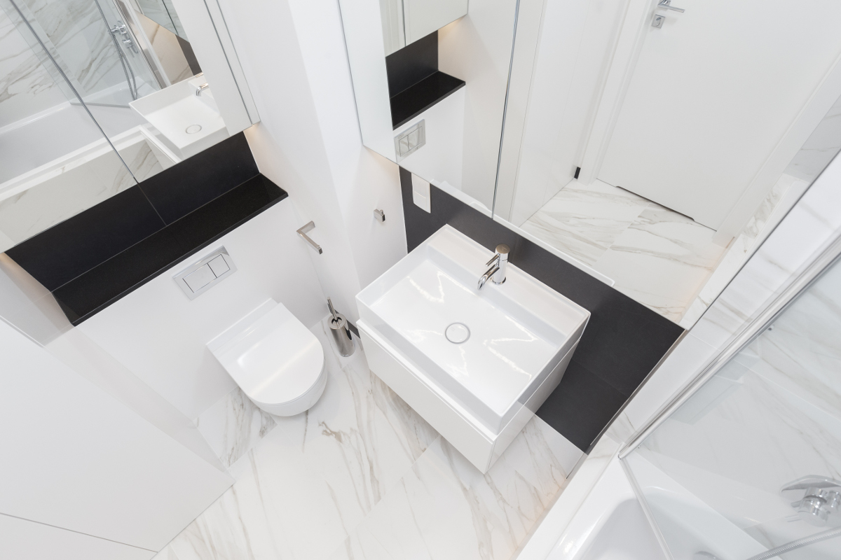 proj. Dmowska Design | mała łazienka