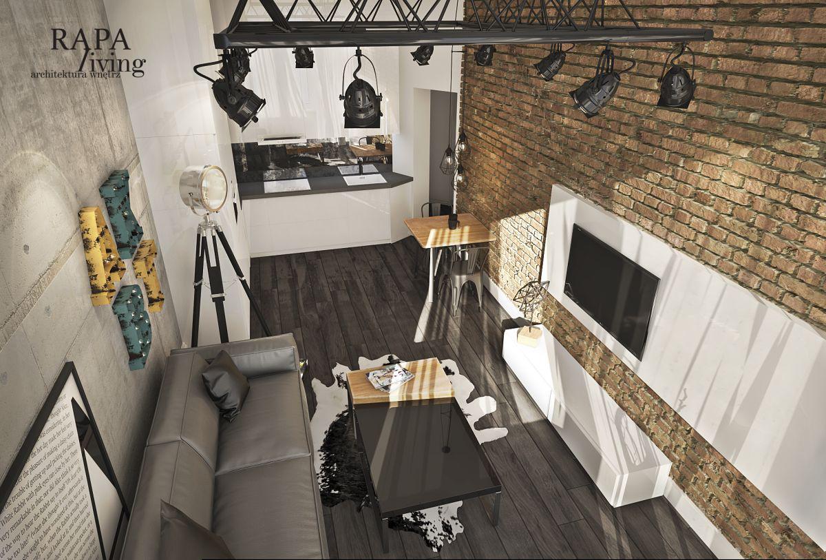 Mieszkanie w odrestaurowanej kamienicy z klimatem loft   Proj: Rapa Living
