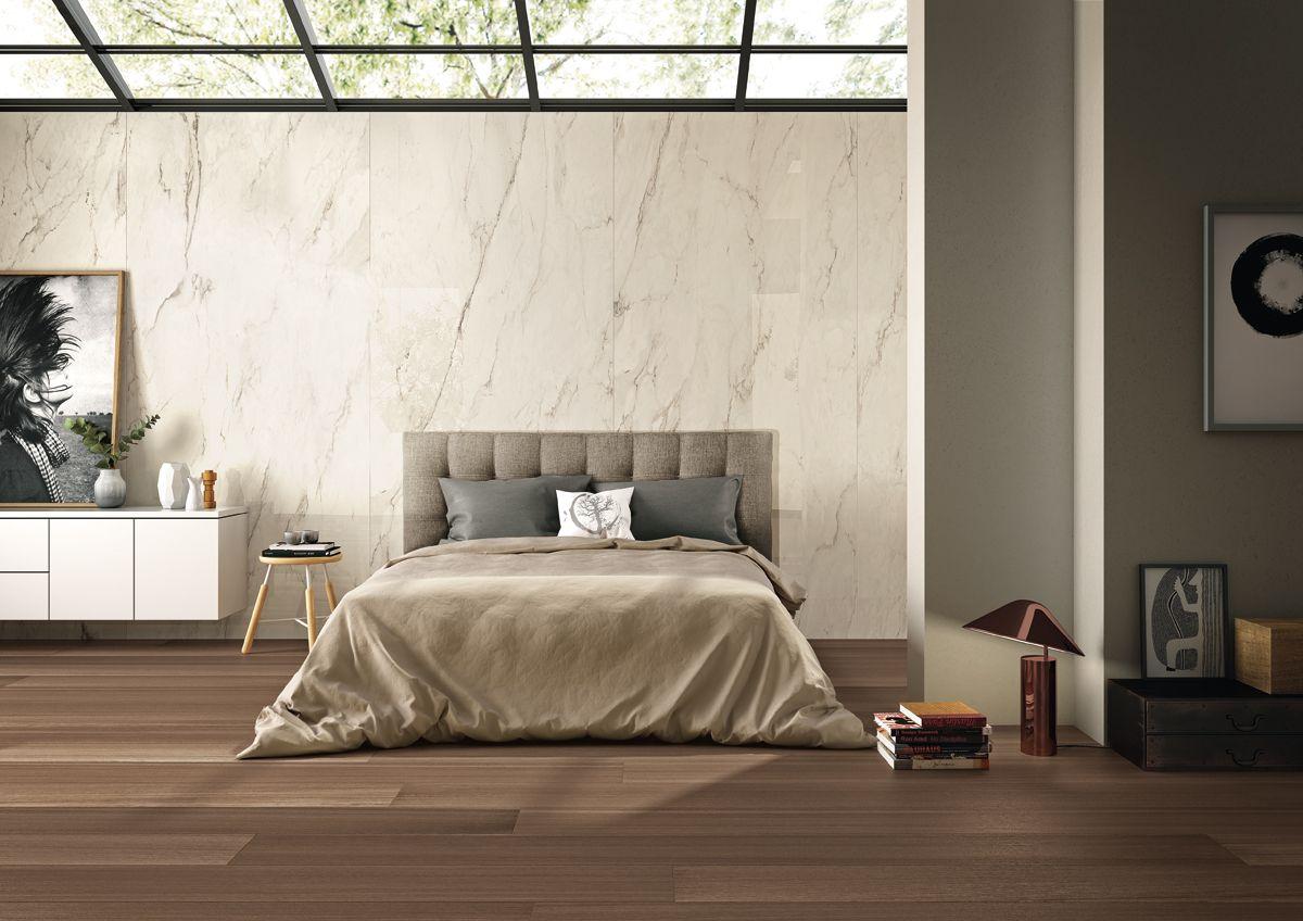 Aranżacja sypialni płytkami marki Imola