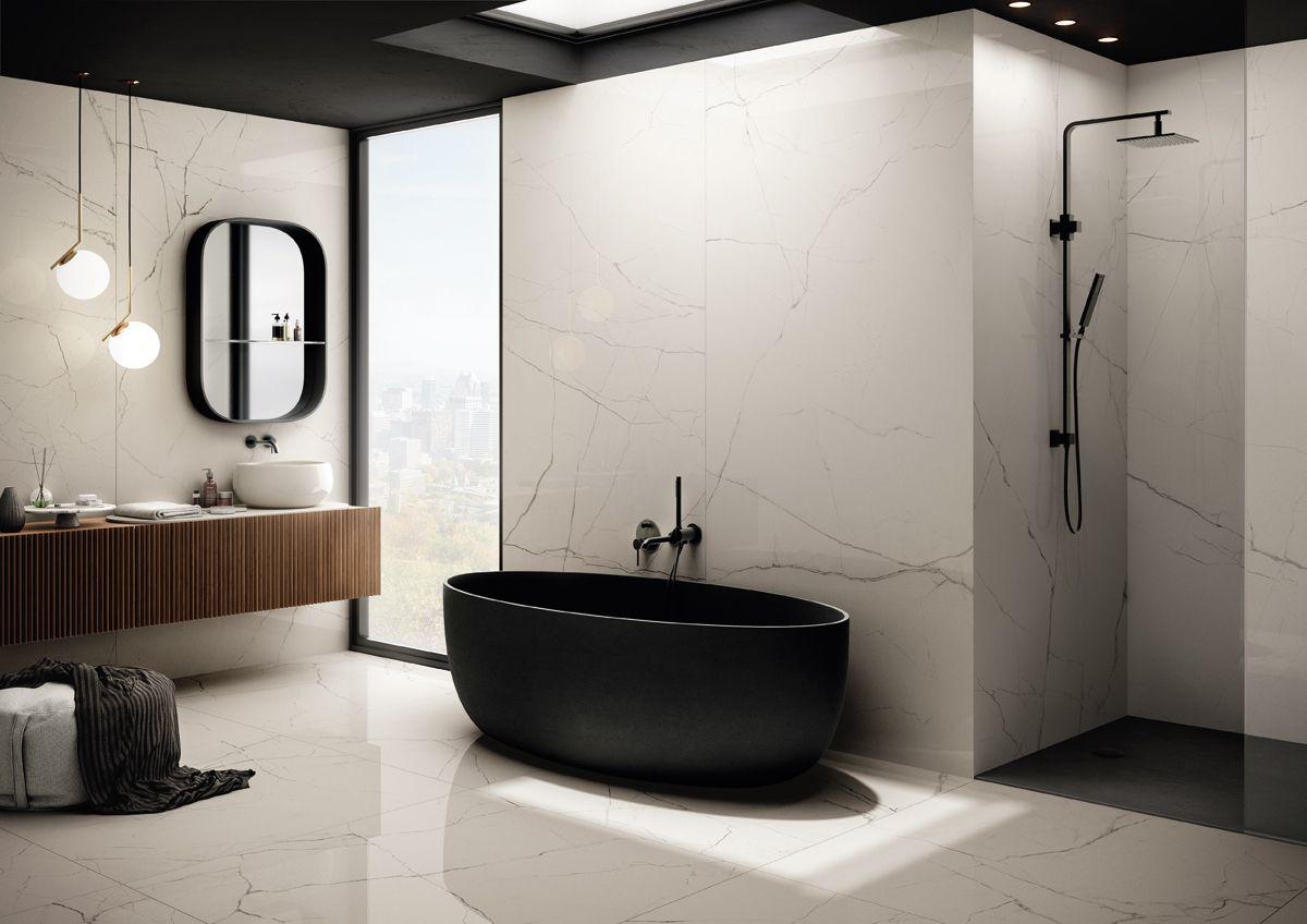 Aranżacja łazienki z płytkami marki Imola