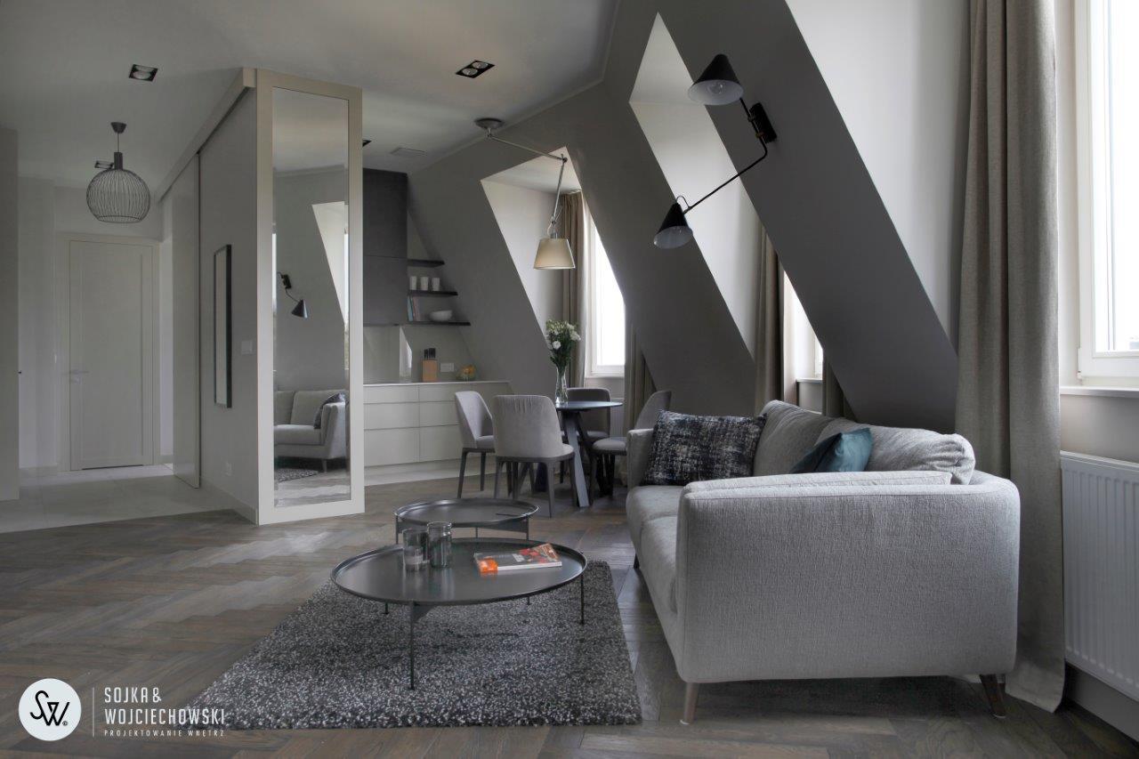 Projekt mieszkania na Powiślu Sojka & Wojciechowski