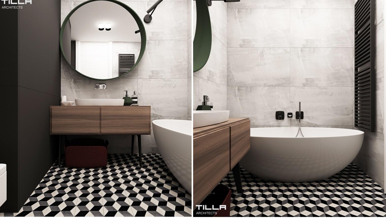 Projekt łazienki Tilla Architect