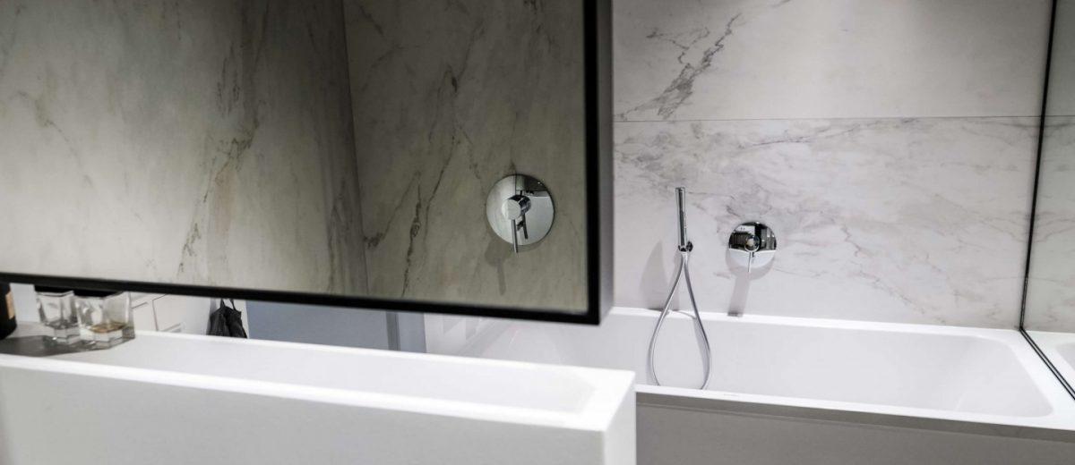 Minimalistyczna łazienka | proj. NOWW Studio