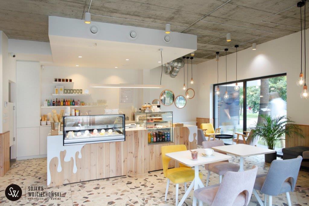 Śmietankowe Cafe | Proj: Sojka & Wojciechowski
