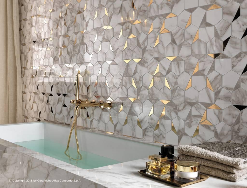 złoto - marmurowa mozaika