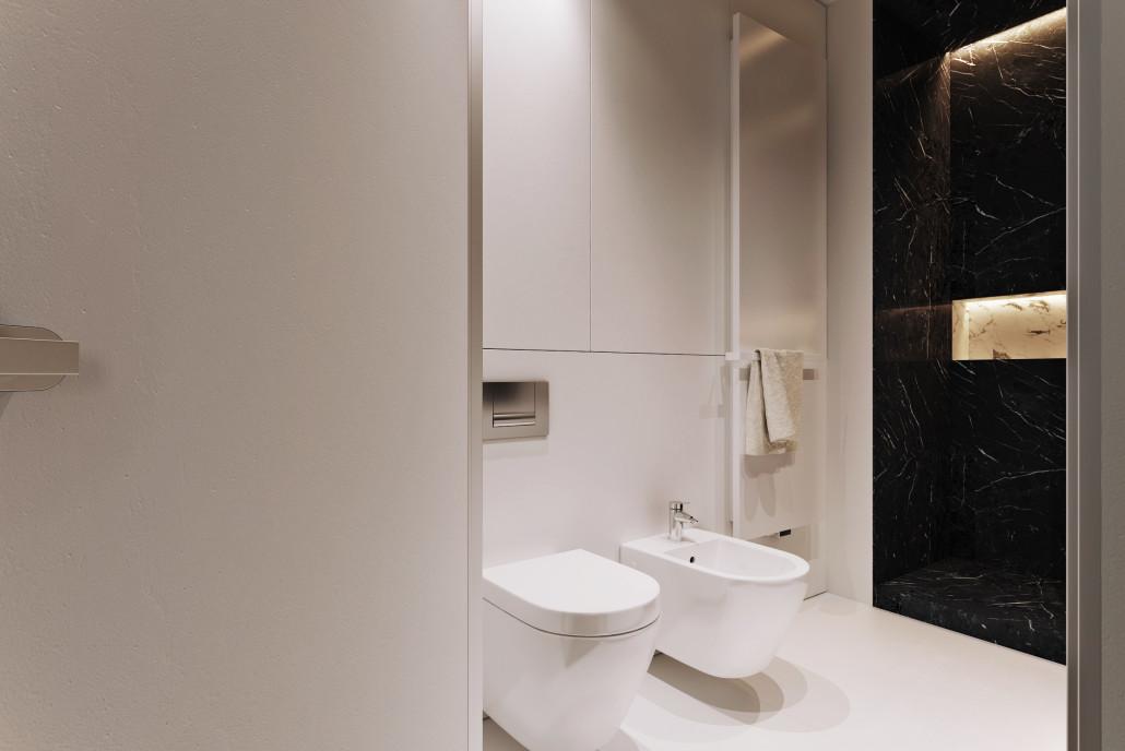 Grzejnik Niva wtapia się w aranżację wnętrza | proj. Dekaa Architects