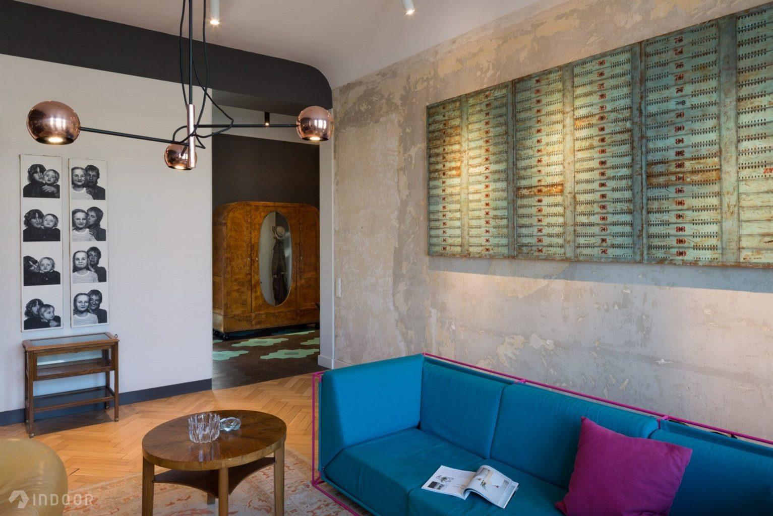 Mieszkanie, które stało się tłem dla sztuki i mebli w stylu Art Deco | proj. Indoor