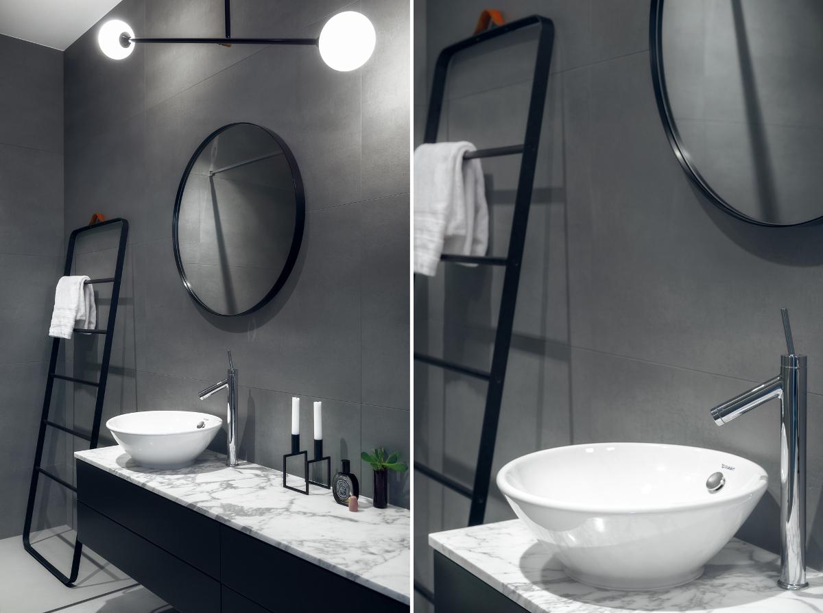 Projekt szarej łazienki