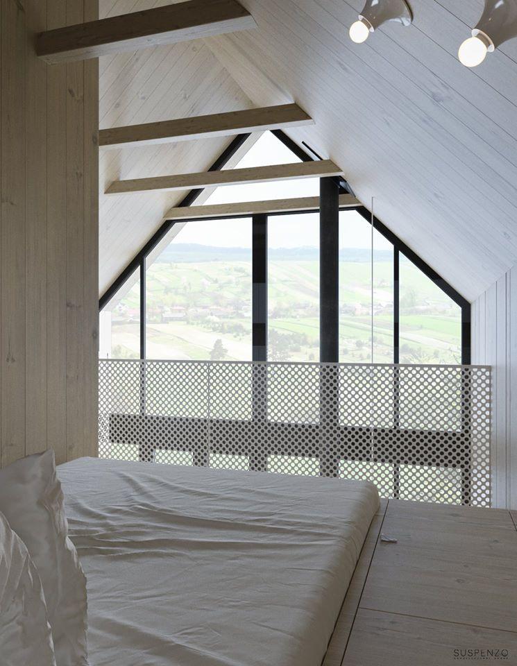 Pracownia architektoniczna Suspenzo projektuje domy na skraju lasu