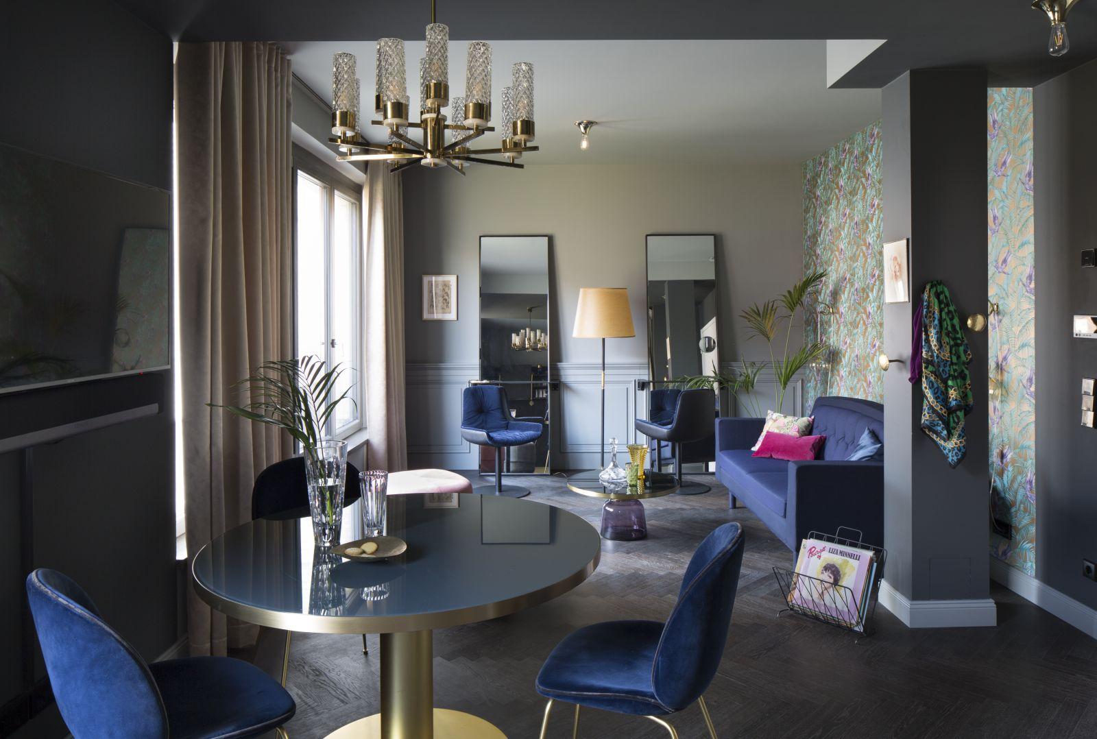 Apartament w stylu eklektycznym w Berlinie (proj. Michał Gulajski, fot. Piotr Mastelarz)