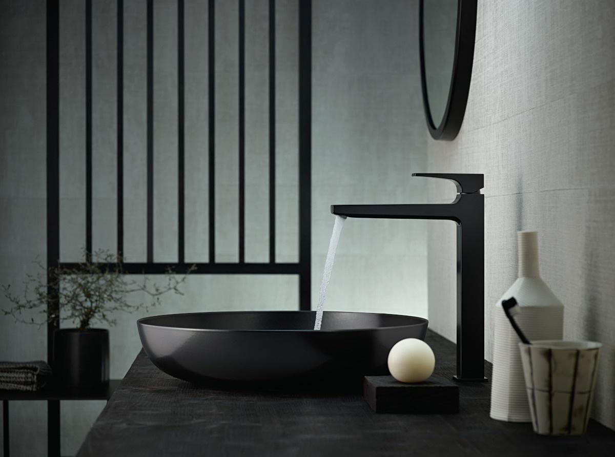 Bateria umywalkowa w kolorze matowej czerni Hansgrohe