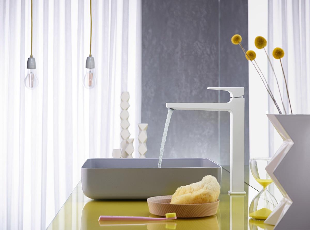 Armatura łazienkowa z kolorze matowej bieli