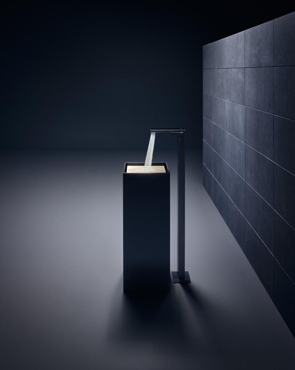 Bateria umywalkowa stojąca na podłodze z kolekcji MyEdition marki Axor