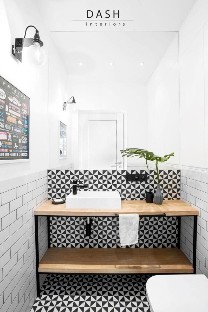 Mała stylowa łazienka | proj. Dash Interiors