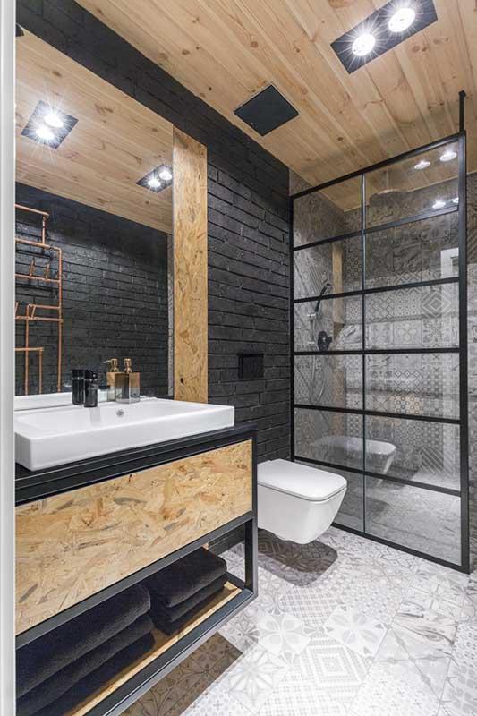 Łazienka w industrialnym stylu | proj. One Design Monika Pniewska