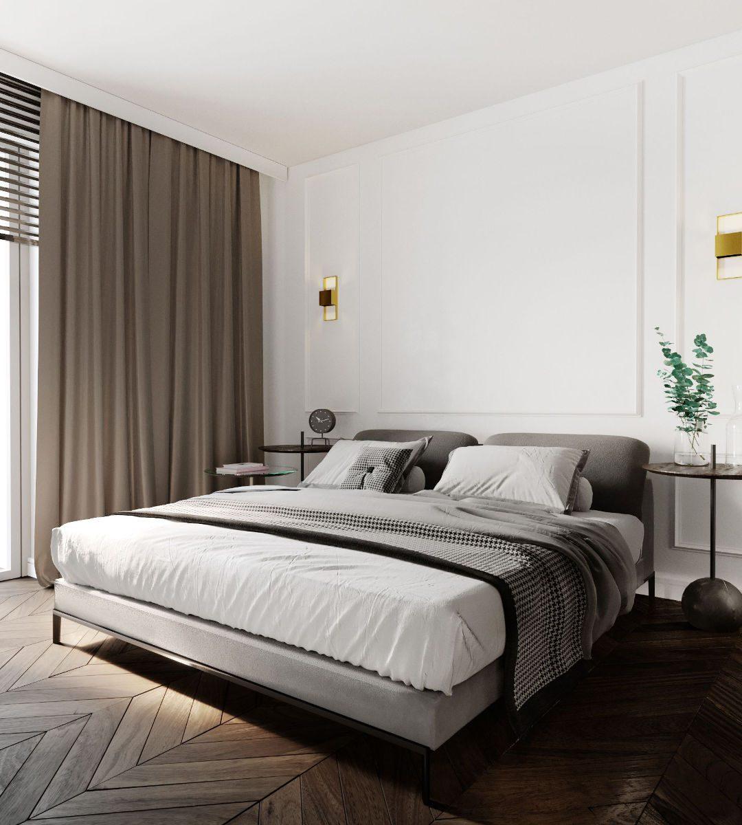 Projekt małej sypialni JMW Architekci