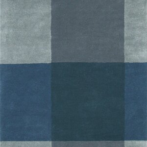 Niebieski Dywan Geometryczny – PLAID GREY 57804