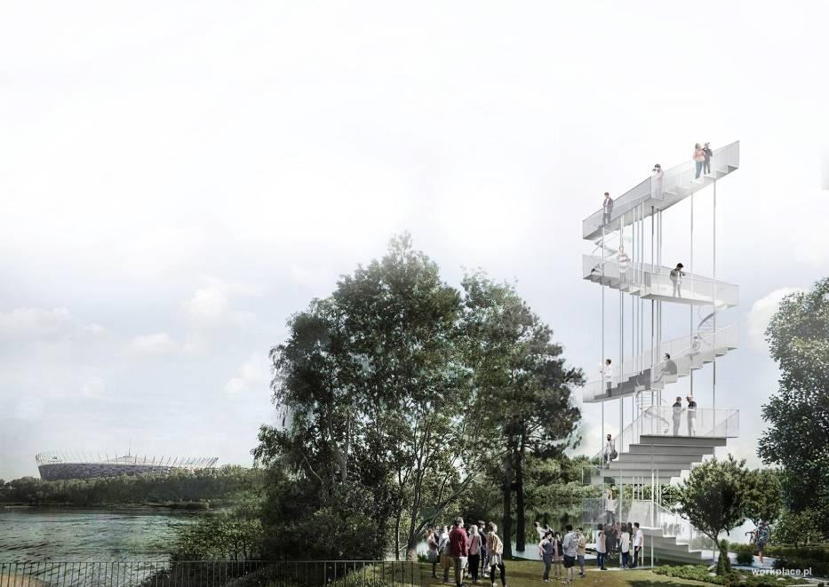 Wieża widowka Wwarszawa http://workplace.pl/pl/story/warszawskie-schody/