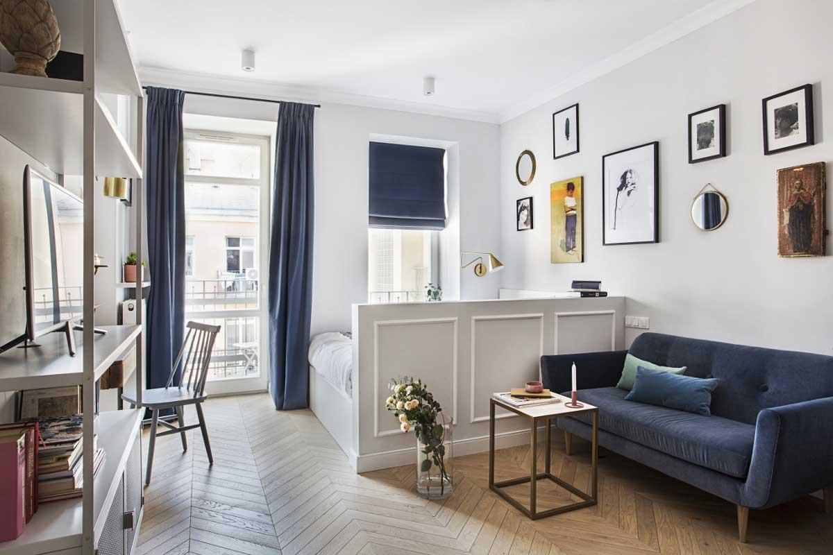 Mieszkanie 30 m2 (OIKOI) | Kliknij, żeby zobaczyć cały projekta