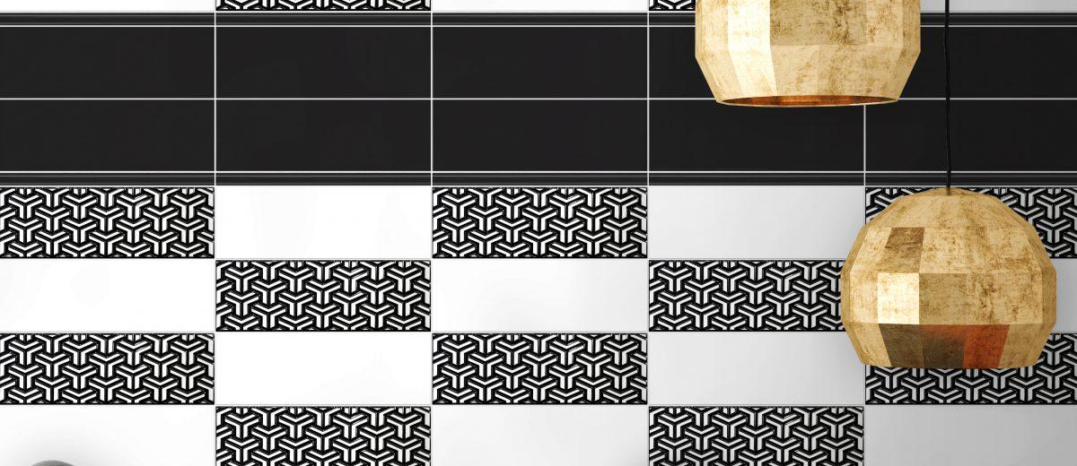 Kreatywny projekt ściany z płytek Patchwork marki Heralgi
