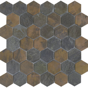 PŁYTKI L'ANTIC PORCELANOSA kolekcja WORN HEXAGON COPPER